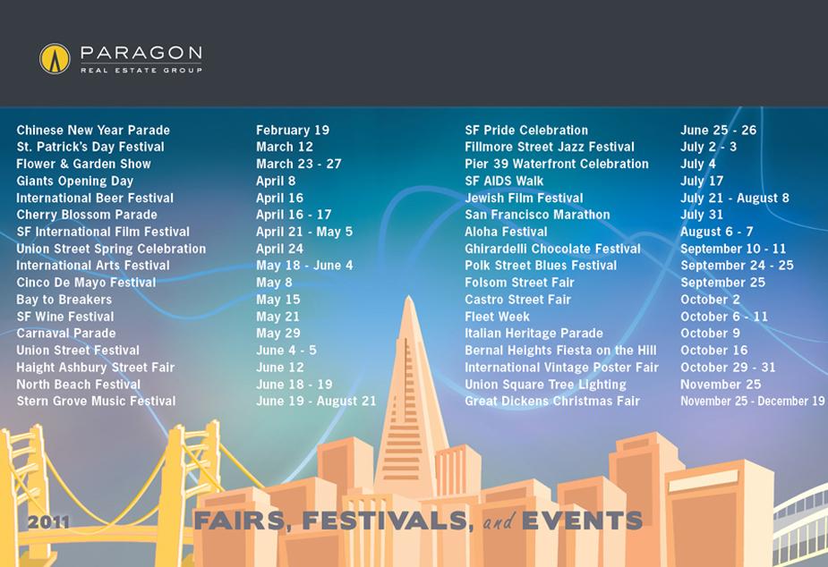 Sf Events Calendar.Sf 2011 Events Calendar Home Team Paragon Real Estate